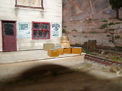 4 x 1/48,1/43 O GAUGE,ON30 ECT, PAINTED CRATES WITH BOTTLES , DIORAMA,WARGAME