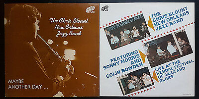Chris Blounts New Orleans Jazz Band - 2 x LP's - Maybe Another Day & Live