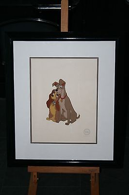 Lady and the Tramp limited edition sericel. Framed (approximately 55cm x 45cm)