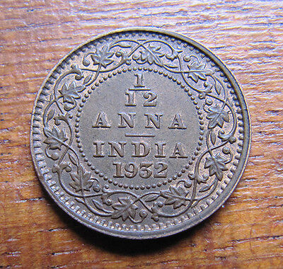 A nice Indian 1932 Victoria one twelth anna coin