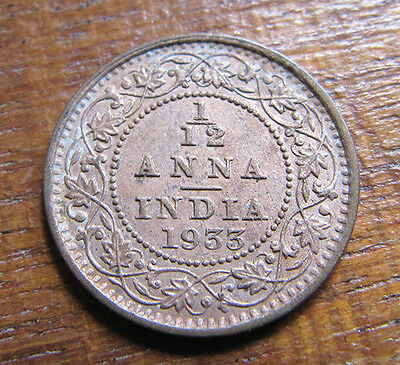 A nice Indian 1933 George V one twelth anna coin