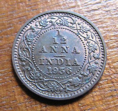 A nice Indian 1936 George V one twelth anna coin