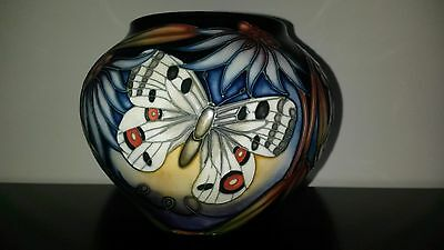 Beautiful Moorcroft Butterfly Apollo Vase 5 in $400. for 5 pieces of Moorcroft