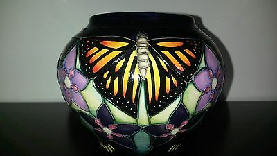 Moorcroft Monarch Butterfly Signed Vase 5 in $400. for 5 pieces of Moorcroft
