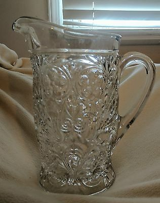 McKee Glass Rock Crystal Pitcher with Ice Lip