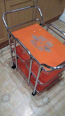 Vintage 3 Tier Kitchen/dining/guest Serving Tea And Drinks Trolley!