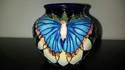 Moorcroft Small 3 inch Butterfly Vase Signed, $400 for 5 pieces of Moorcroft.