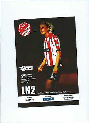 2011 Lincoln Ladies v Everton  Ladies FAWSL Mint Condition