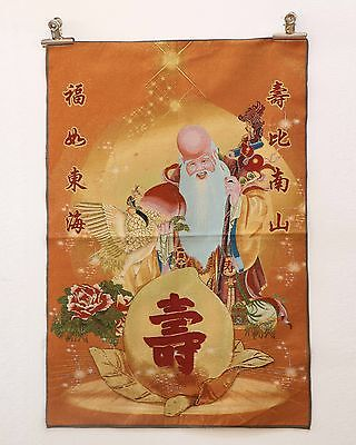 Tibet Collectable Silk Hand Painted Fairy Birthday Thangka