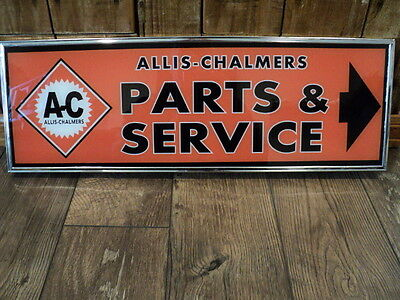 Original Allis Chalmers Dealer Parts & Service Lighted Sign - Farm Tractor