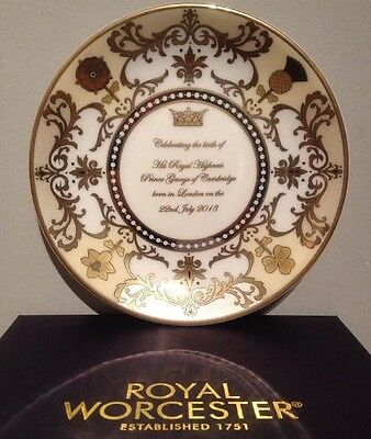 Royal Worcester, Prince George Of Cambridge Coupe Plate, Royal Baby Collection