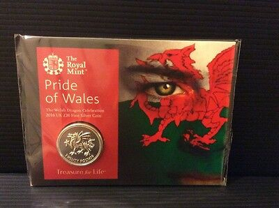 Royal Mint 2016 Pride of Wales £20 Pound Coin Brilliant Uncirculated 999 Silver