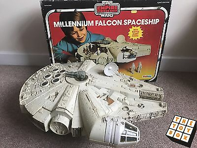 Vintage Star Wars ESB Palitoy Boxed Millennium Falcon *working*