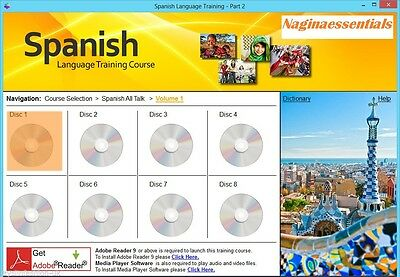Learn to Speak Spanish Language Training Course on 2 DVD SET - Complete guide