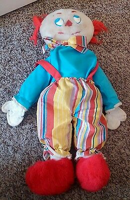 Vintage 18 Inch Clown Plush Made By Eden Toys With  Removable  Outfit