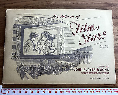 49 John Player & Sons Cigarette Cards FILM STARS THIRD SERIES in OFFICIAL ALBUM
