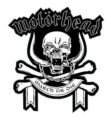 Motorhead shaped vinyl sticker 100mm x 90mm March Or Die Lemmy