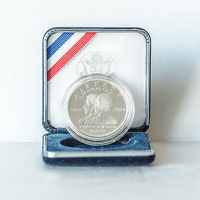 Uncirculated Liberty Silver Dollar - Wright brothers 1903 - 2003