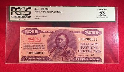 Military Payment Certificate Series 692 $20 PCGS 53 About New
