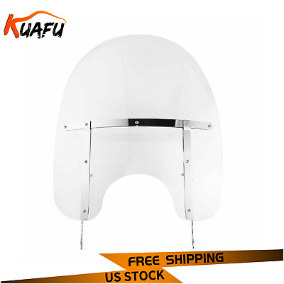 Detachable Windshield For Harley Heritage Softail Classic Fat Boy FL 2000-Up NEW