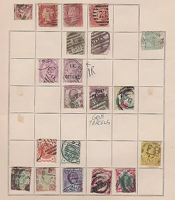 Uk Gb Very Old Page Stamps $$
