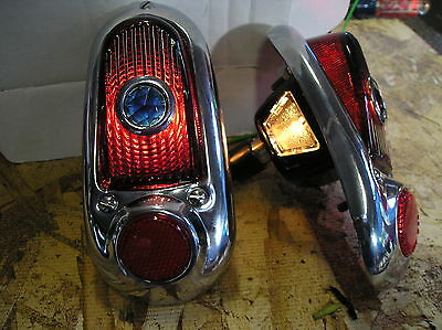 New Replacement Pair Of Blue Dot Tail Lights Assemblies For 1949 1950 Chevrolet