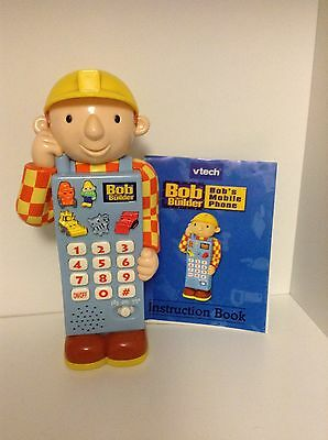 VTech Bob the Builder Mobile Phone with instructions and new batteries