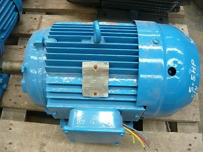 Brooks 5.5Hp 3 Phase Electric Motor/ 760Rpm