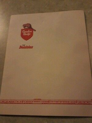 Canadian Pacific Railway 1950s Lunch Menu perfect condition