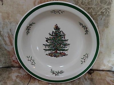 "SPODE Christmas Tree Round Serving Bowl - 10-5/8""  S3324F  Made in England"