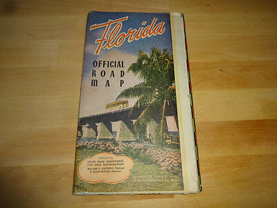 1947 Florida Official Road Map