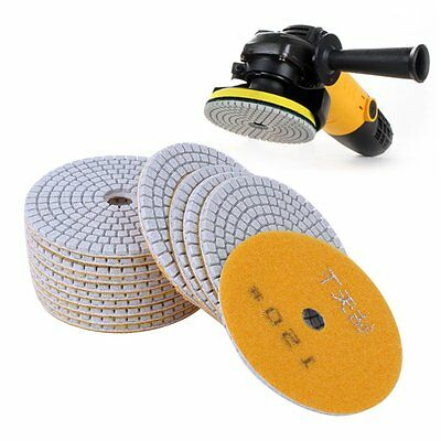 Diamond Polishing Pads 4inch Wet/Dry 15Piece Set Granite Stone Concrete Marble@P