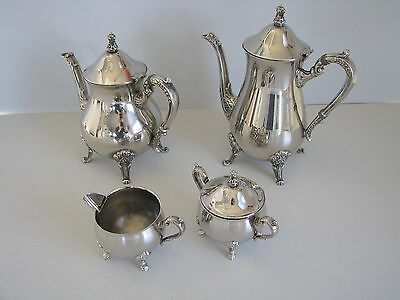 Four Piece Silverplate Tea And Coffee Set
