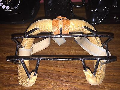 Vintage 1948 Wilson Leather Face Protector Mask NBA NHL Lacrosse