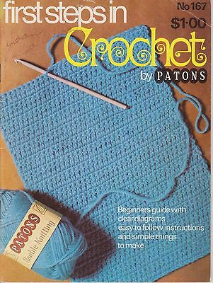 Vintage Crochet Patterns   First Steps in Crochet by Patons #167    1950s
