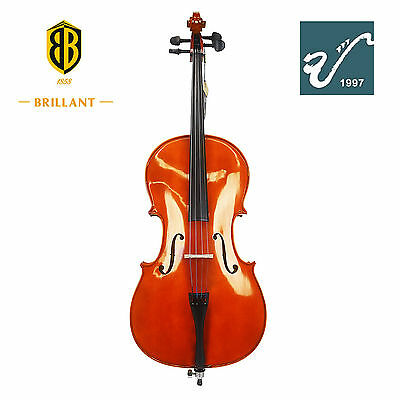 Brillant Beginners Cello Outfit - 4/4 Full Size Student Cello