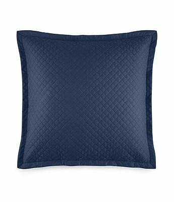 "Ralph Lauren Wyatt Quilted Sateen 20"" Square Decorative Pillow Polo Navy $115"