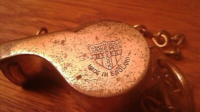 Wwii Brass Whistle With Cork Ball The Acme Thunderer Army Navy Meyer N.y. Rare