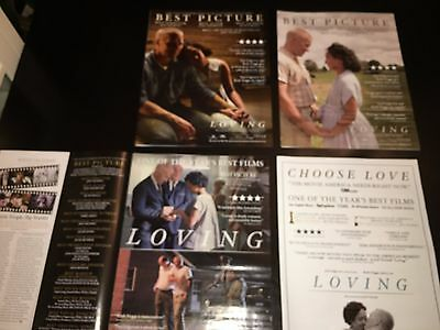 3 LOVING Ruth Negga Joel Edgerton Oscar Globe advertisement Academy Award ad