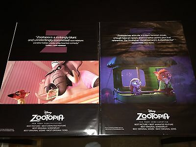 2 ZOOTOPIA  Oscar Globe advertisement Academy Award ads