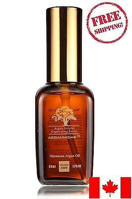 50 PACK: 100% Pure Argan Oil by Arganmidas - 50 ML - Free Shipping from Canada!