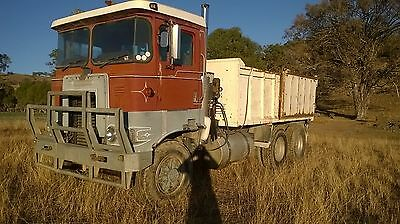 Atkinson 3800 series plastic cab 10 metre bogie tipping truck with hiab crane