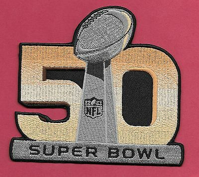 """New Super Bowl 50 Denver Broncos'  4 1/2 X 5  """" Iron on Patch Free Shipping"""