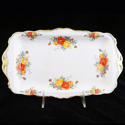"""PACIFIC ROSE Royal Albert Sandwich Tray 11.75"""" Bone China NEW NEVER USED England"""
