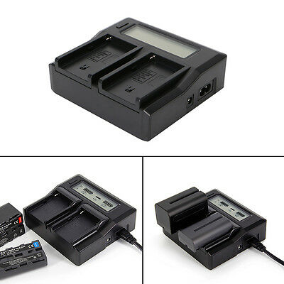 LCD Dual Battery Ruibo Charger For Sony NP-F970 NP-F770 F750 F550 F930 F970 F990