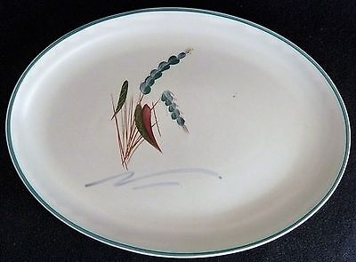Denby Stoneware Oval 32 cm  Plate / Platter Greenwheat A. College Design Pottery