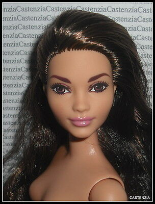 Nude Barbie Curvy Brunette Brown Eyes Fashionista Evolution Doll For Ooak