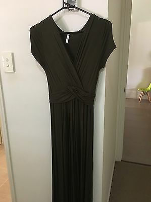 Olive Green Maternity Dress Size Small