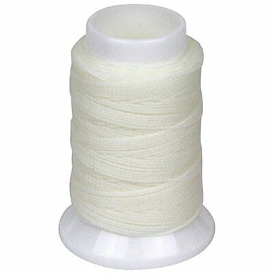 SEIWA W Waxing Sawing Thread #0 50m White Polyester Leather Craft Tool New