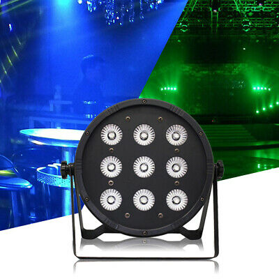 4in1 9x10W RGBW LED DMX512 Par Stage Lighting Disco DJ Xmas Lights Sound Active